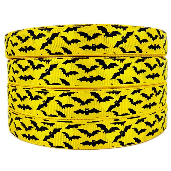 "10 YardS SHIP FROM USA HALLOWEEN SPIDER WEB GREEN 7//8/"" Grosgrain Ribbon 1 5 3"