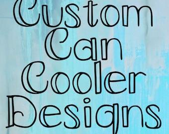Custom Can Cooler Designs