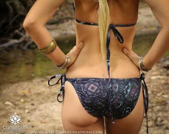 FRACTAL DREAMS Crystalotus Bikini, Fractal print Bikini, art print swimwear, psychedelic bikini