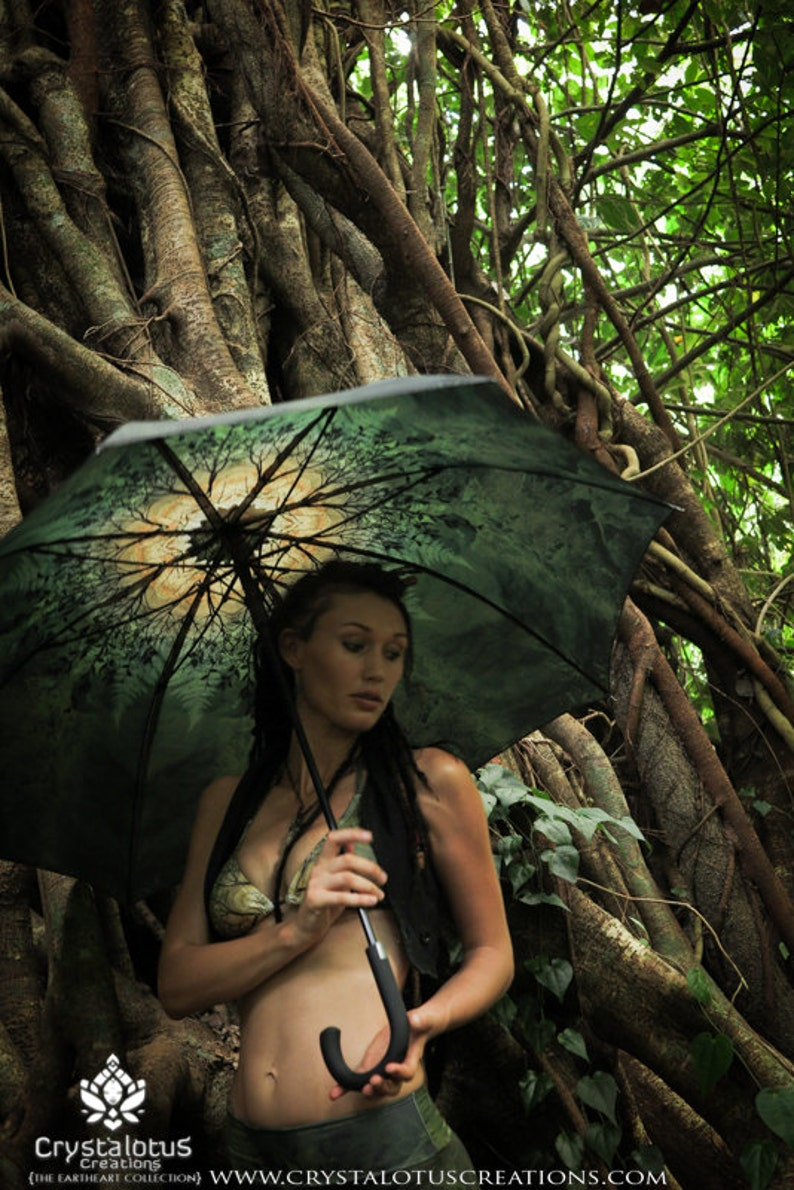 SPRING Crystalotus print Umbrella shade umbrella wedding image 0