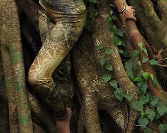EARTHEART Yoga Leggings, Mandala leggings, Fractal leggings, sacred geometry leggings, pixie leggings, tribal leggings, yoga wear,