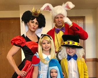Alice In Wonderland Halloween Costume Family.Alice In Wonderland Dress Adult Etsy