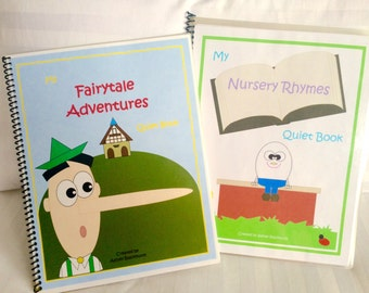 Nursery Rhymes & Fairytale Books Combo Activity Pack; 2 Printable Quiet Book Patterns!