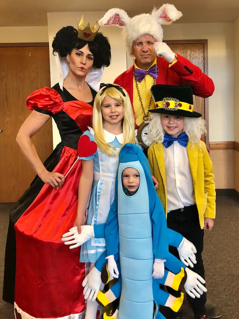 Cute Family Disney Halloween Costumes.Alice In Wonderland Family Costume Set Halloween Disney Kit Idea Couples Kids Adults Themed Complete Ready Party Cute Unique Accessories