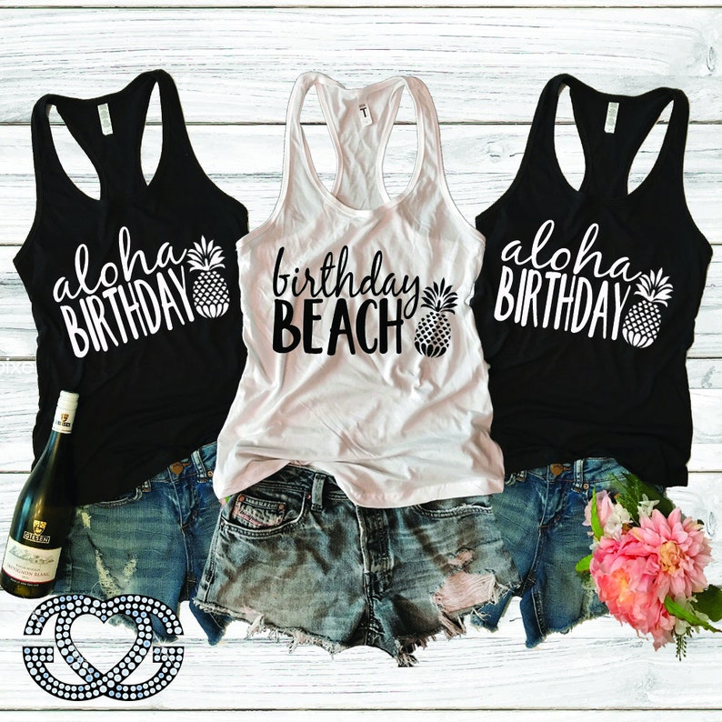5faf6165ce Birthday Beach TankBirthday TankBirthday TeeBirthday | Etsy