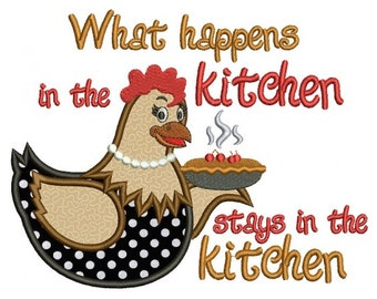 Kitchen Applique Etsy