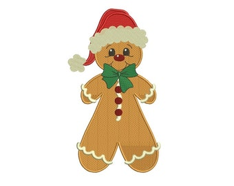 Ginger Bread Man Christmas Filled Machine Embroidery Digitized Design Pattern - instant download - 4x4 , 5x7, and 6x10 -hoops