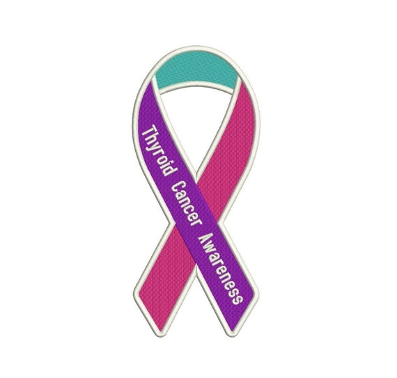 Thyroid Cancer Awareness Ribbon Machine Embroidery Digitized Etsy