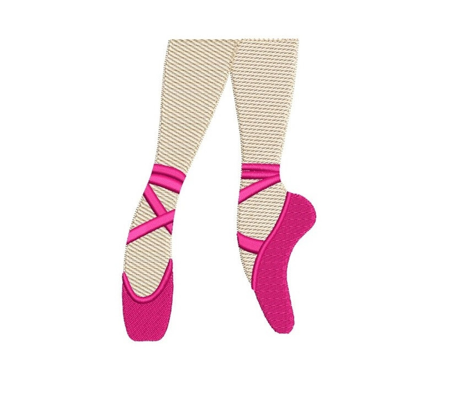 ballet shoes filled machine embroidery digitized design pattern - instant download- 4x4 , 5x7, 6x10