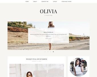 "Wordpress Theme - Genesis Child Theme - Responsive Blogger Theme - Responsive Wordpress Template ""Olivia"""