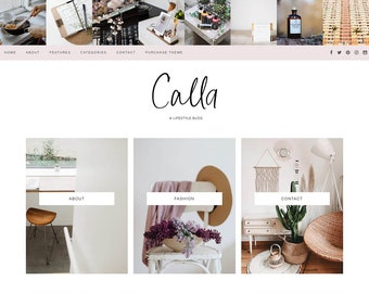 Pastel Feminine Wordpress theme - Pink Wordpress Template - Genesis child theme - Blog template - CALLA
