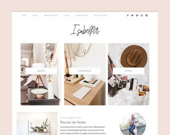 NEW!! Feminine Wordpress theme - Genesis child theme - Simple Blog Theme - ISABEL