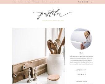 Pink Feminine Wordpress theme - Pastel Pink Wordpress Template - Genesis child theme - Blog Design - Pastelia