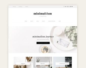 "NEW - Premium Wordpress Theme for Business owner, Entrepreneurs, Shops, Creators, eCommerce, Woocommerce Theme - ""Minimalism"""