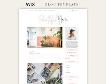 Wix Blog Template, Responsive Wix Template, Wix Blogger Theme, Wix Design, Wix Template, Wix Website Design, Pink Wix Template   Yoon