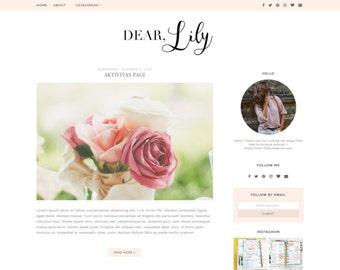 Pink Blogger Template - Premade Blogger Template - Minimalist Blog Design - Blogspot Template ' LILY'