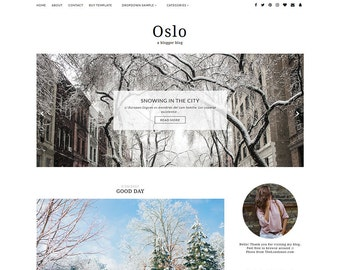 OSLO - Minimalist & Responsive Blogger Template - Simple Blog Theme
