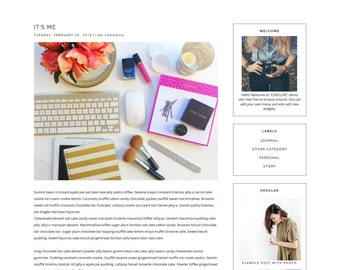 Monica clean blogger template • blogspot templates 2019.