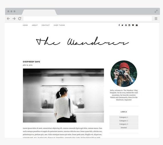NEUEN vorgefertigten Blogger-Vorlage einfach und sauber | Etsy