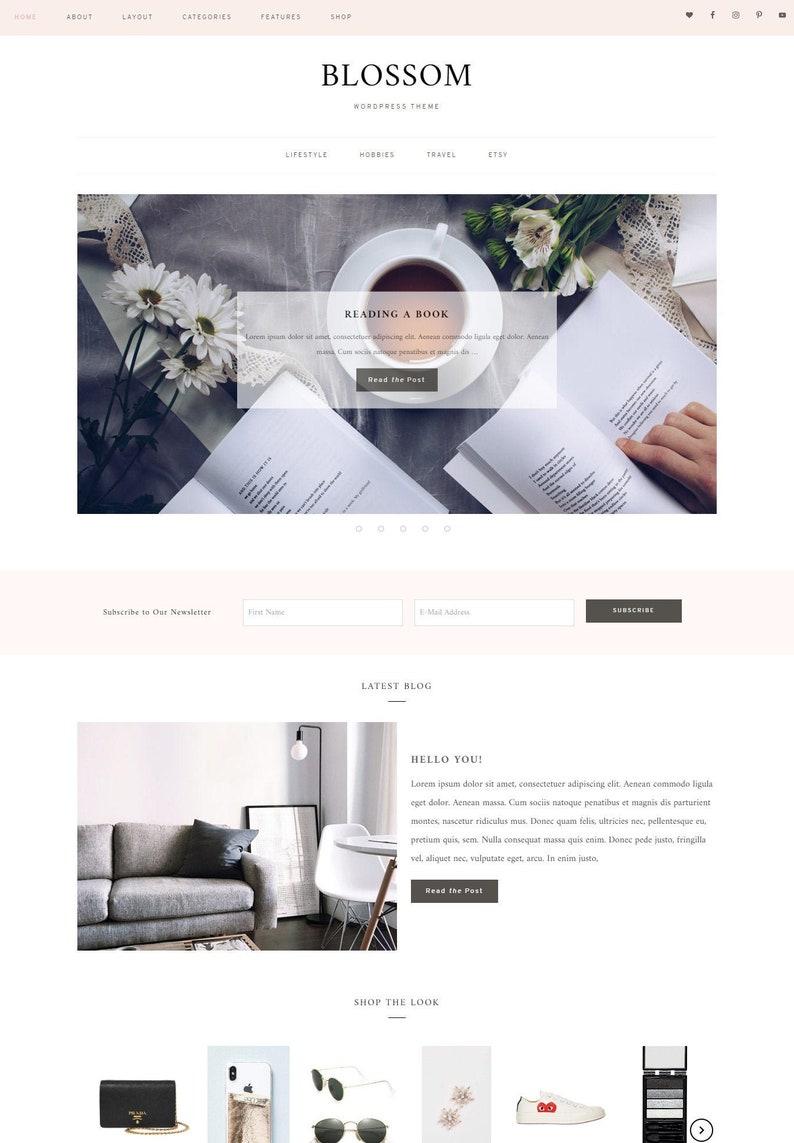 Wordpress Woocommerce Theme Feminine Wordpress Theme image 0