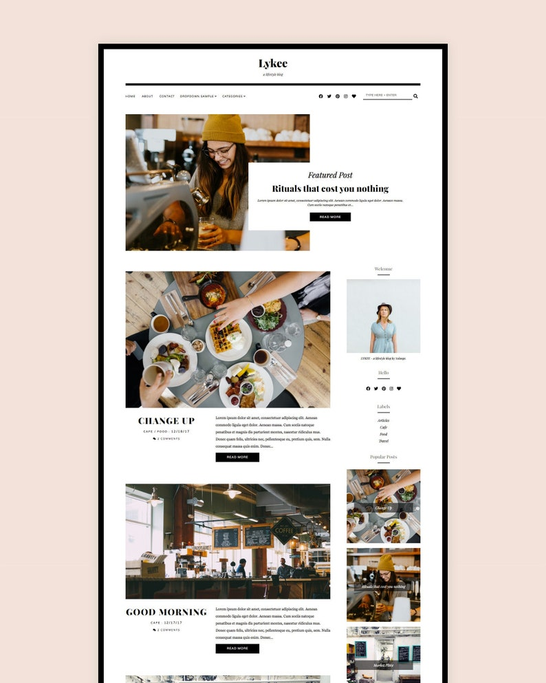 UPDATED  Responsive Blogger Template  Premade Blogger Theme image 0