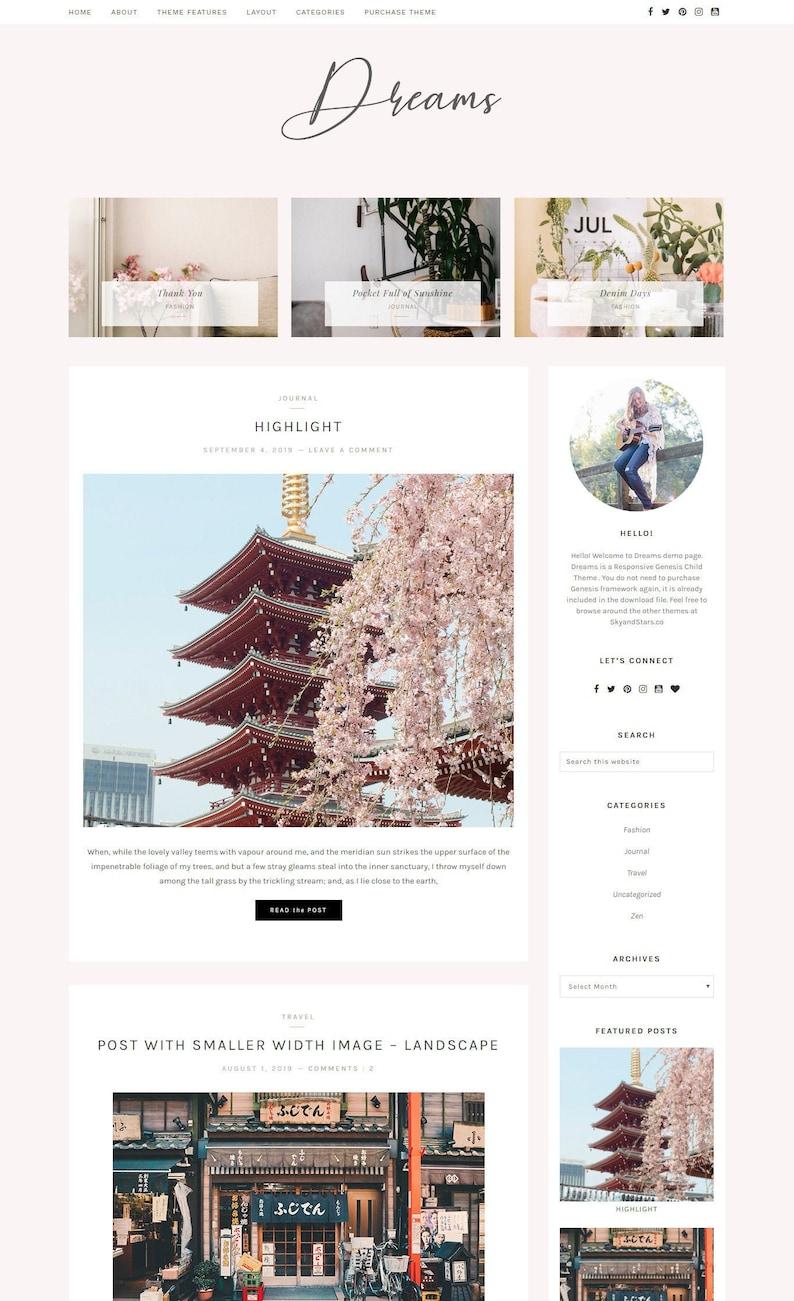 Wordpress Theme Blog & Genesis Child Theme Wordpress image 0