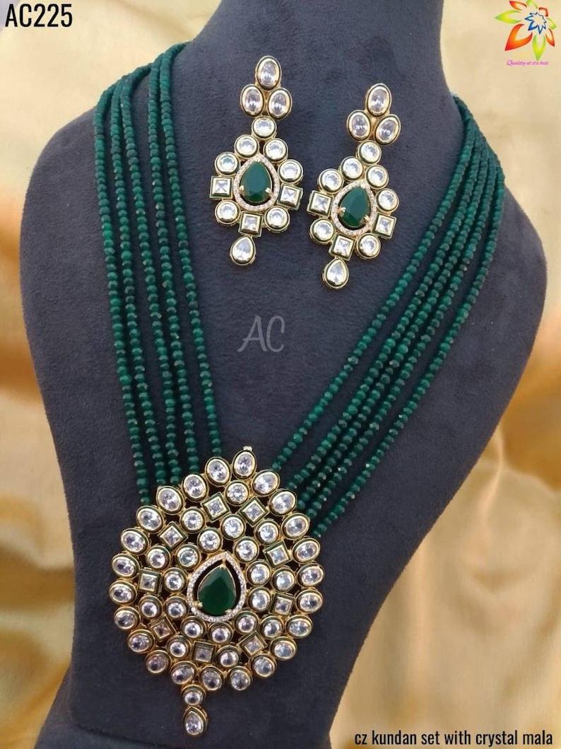 Beautiful indian kundan jewellery set