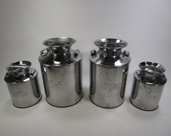 Items similar to Rustic Kitchen Canisters / flour sugar ...