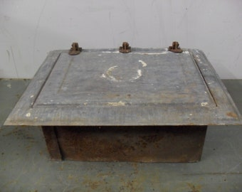 Vintage Coal, Trash, Or Laundry Chute Door Galvanized Metal