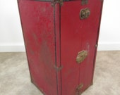 Antique doll travel case