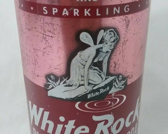 Vintage sparkling white rock black cherry soda can fairy advertising