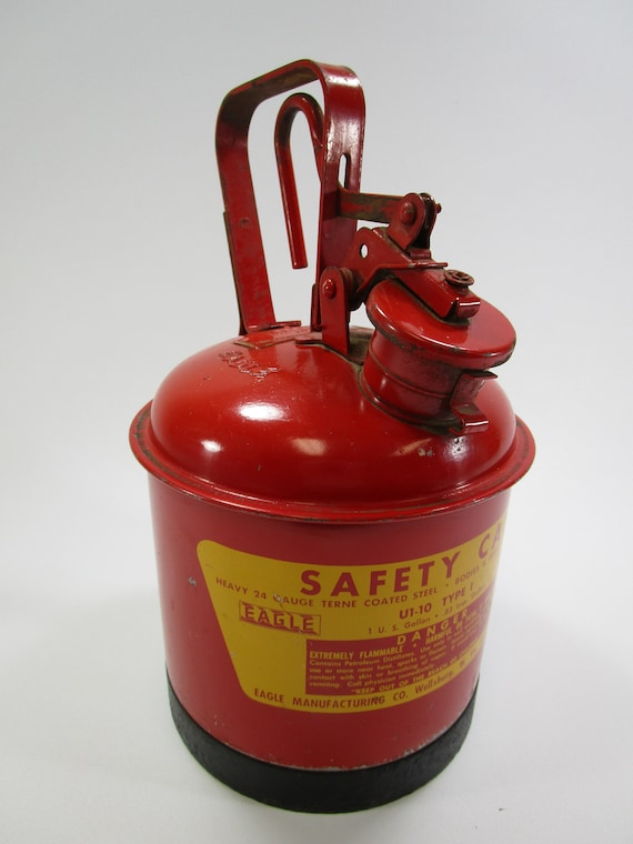 Safety Gas Can >> Vintage Mini Eagle Safety Gas Can One Gallon