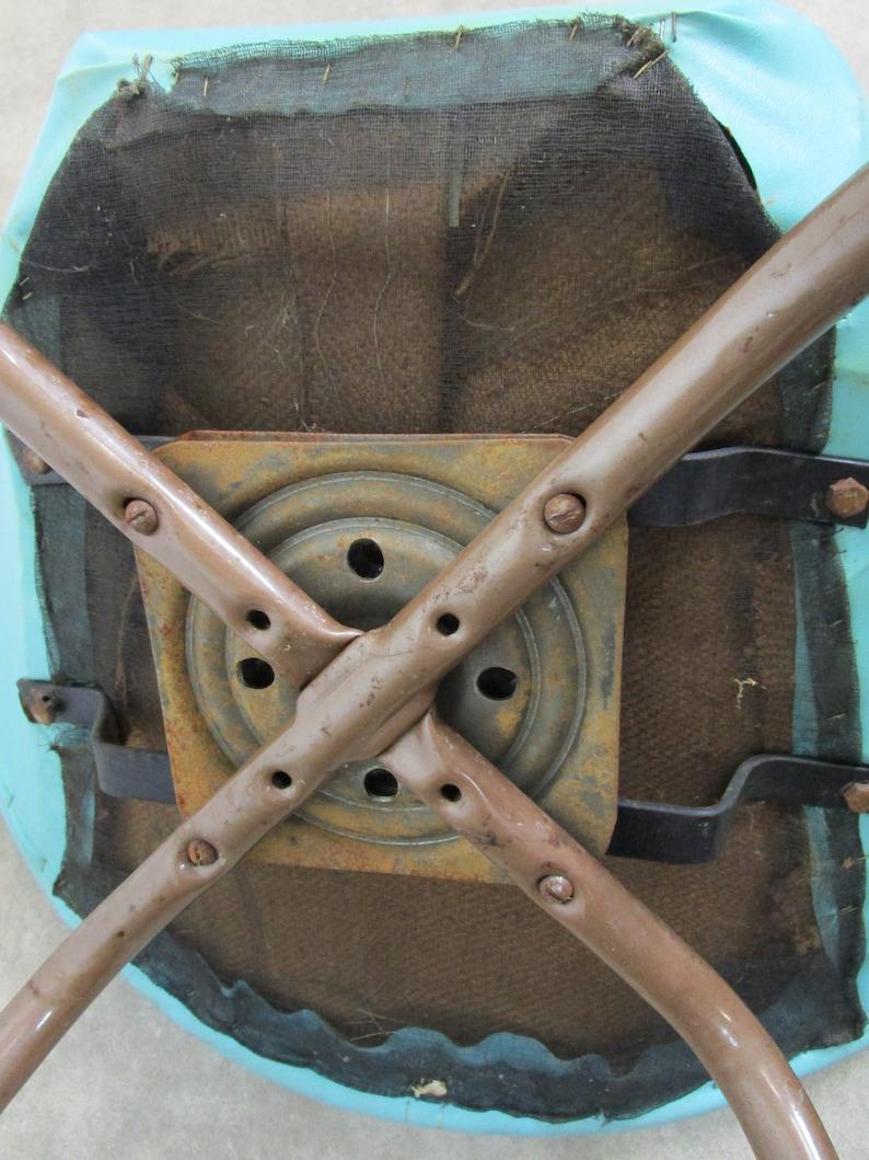 Vintage Blue Saucer Chair