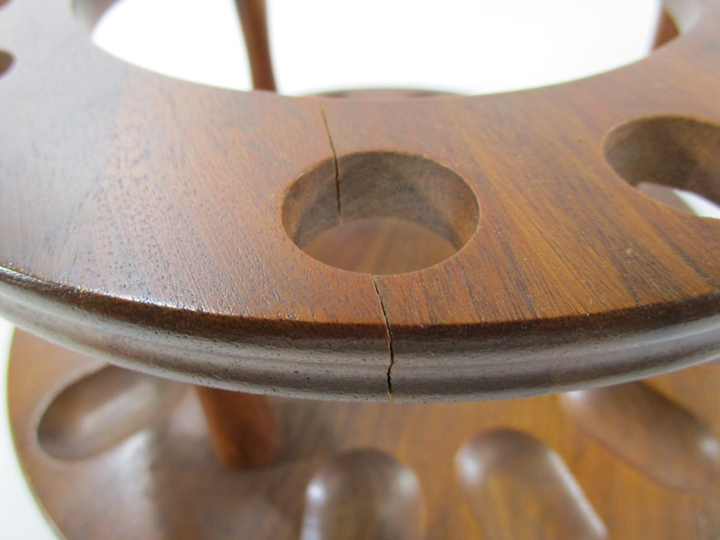 Vintage Decature Industries Walnut Humidor /& Pipe Holder