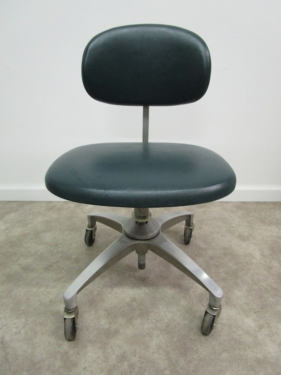 Super Mid Century Modern Aluminium Swivel Adjustable Rolling Office Desk Chair Caraccident5 Cool Chair Designs And Ideas Caraccident5Info