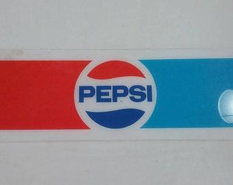 Vintage pepsi soda machine plexiglass advertising sign pop