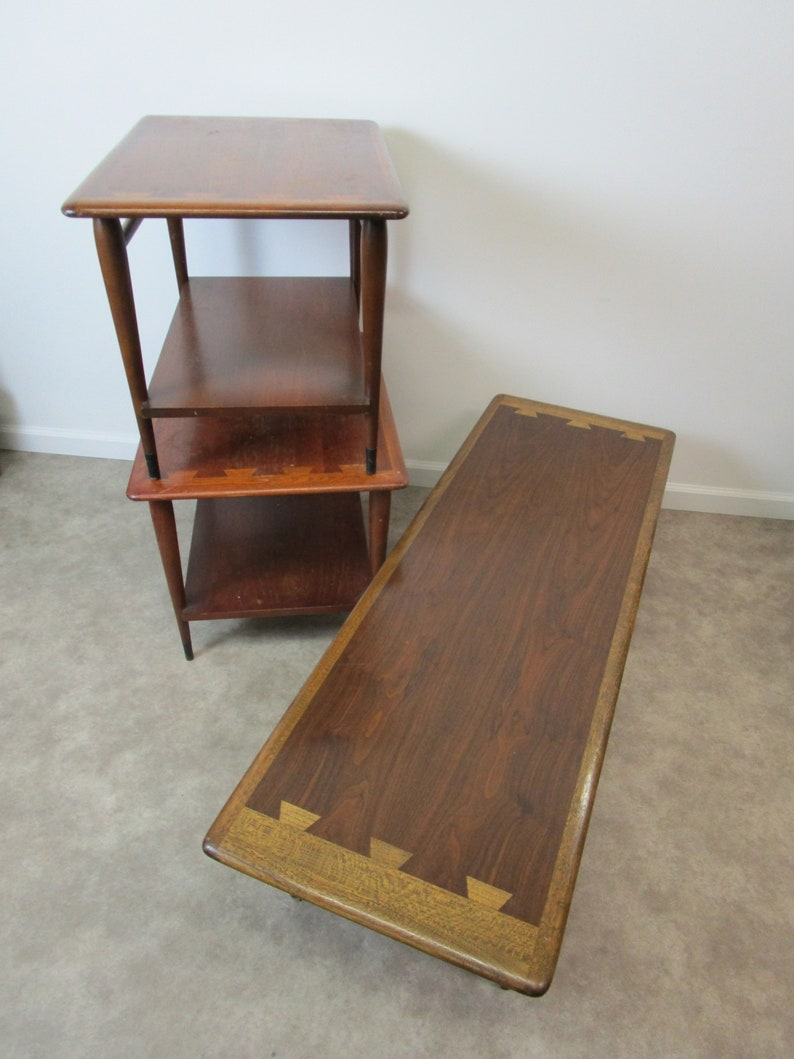 Greyhound Shipping Quote >> 3 Piece Mid Century Set Of Lane Acclaim Living Room Tables
