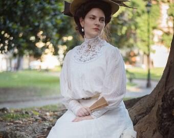 Custom Edwardian dress in cotton voile