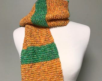 Knitted Scarf / Striped Scarf / Rugby Scarf / Long Scarf / Handmade Scarf / Mens Scarves / Women Scarves / Warm Scarf / Scarves
