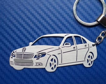 Key Chain For Mercedes C 220 Personalized Keychain Car Custom Gift Lovers Birthday