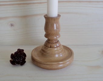 Vintage Wooden Candleholder, Vintage Home Decor, wooden Candle Holder, Table decor, Wooden Candlestic