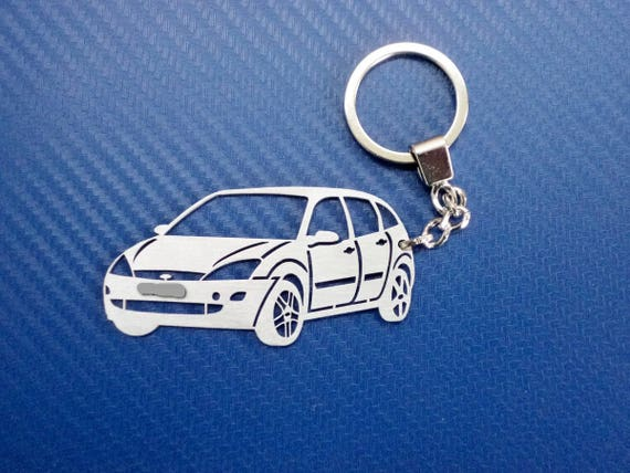 Key chain similar to Ford Focus, Car Keychain, Keyring for Ford Focus,  Custom Keychain, Original Personalized Gift, Birthday gift, Xmas
