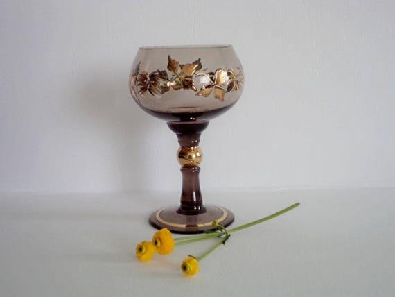 verre vin grand cru grand verres de champagne brun verres etsy. Black Bedroom Furniture Sets. Home Design Ideas