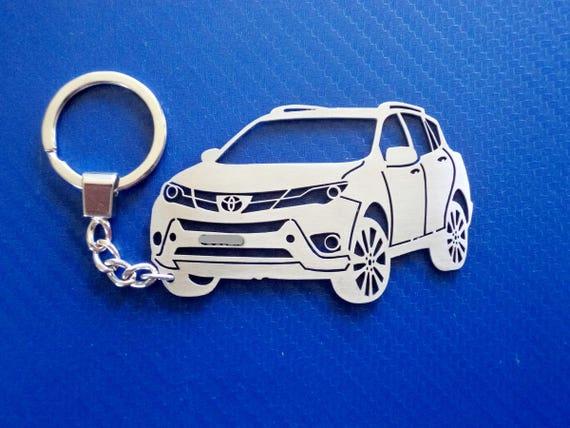 Keychain Rav4 Toyota Chain Personalized ForEtsy Key Car 4Aq5Lcj3SR