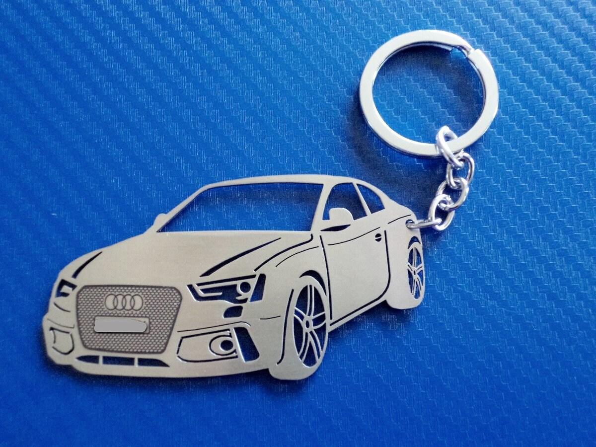 Personalised AUDI A6 AVANT  keyring ANY NAME engraved aluminium custom made gift