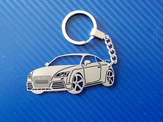 Genuine Audi TT Model Leather Keyring