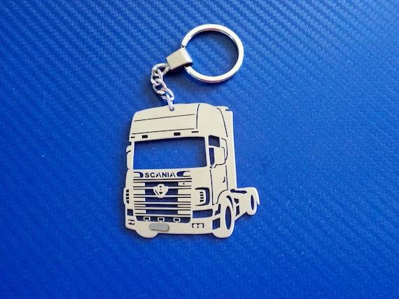 Handmade Laser Cut Gift Wagon Truck Keyring DAF Trucks Leather Keyring
