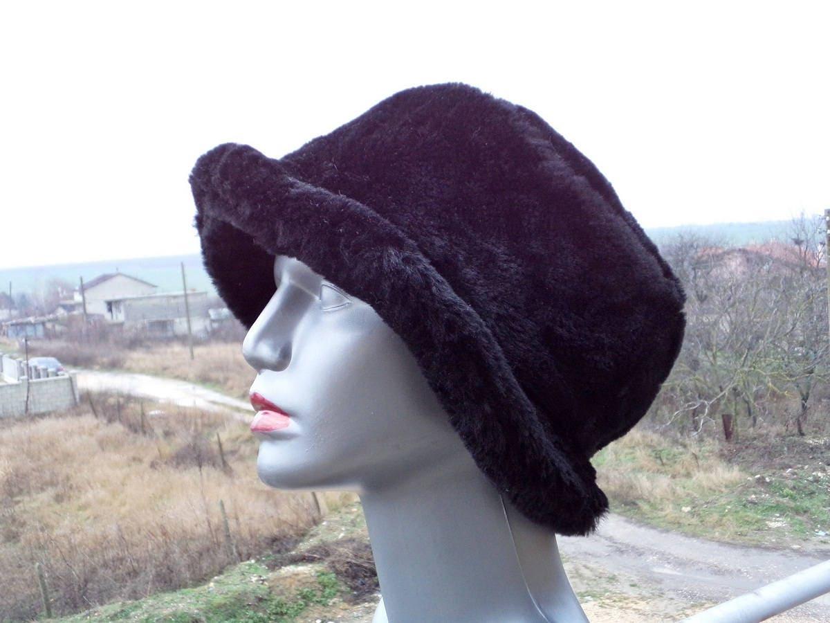0c4def9db007c8 Vintage Faux Fur Hat, Black Faux Fur Hat, 80's Women's Hat, Winter Hat,  made in Italy, Warm Soft Fur Hat, Vintage Woman Accessory,