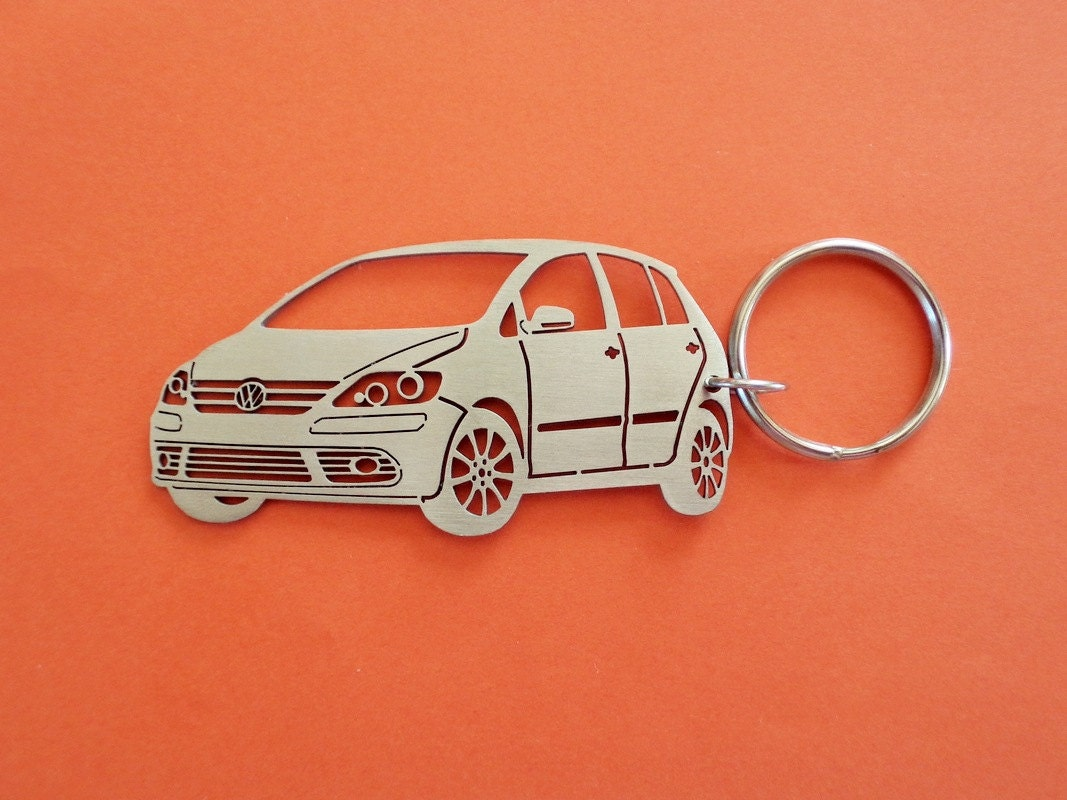 VW Golf plus Schlüsselanhänger Edelstahl benutzerdefinierte | Etsy