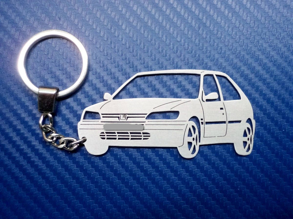Key Chain Similar To Peugeot 306 2 Doors Personalized Car Keychain Keyring For Custom Lovers Birthday Gift